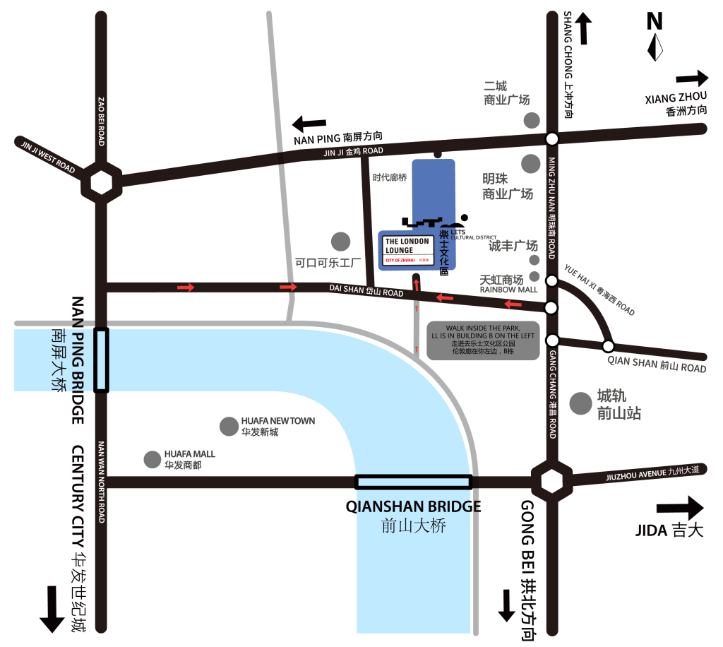 LONDONLOUNGE Bar Restaurant Zhuhai Map